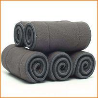 Бамбуковый-Угольные Вкладыши в подгузники 5 слойные.