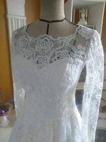 Suknia ślubna 36-38 + podwiązka gratis do wyboru