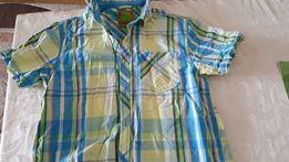 Koszula 158 cm chłopięca z krótkim rękawem w kratkę