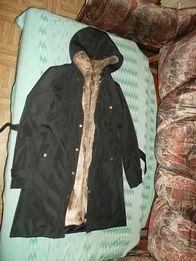 Женское плащ пальто со съемной подкладкой осень зима весна