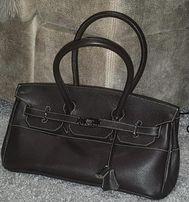 Новая,кожаная,супер стильная сумка hermes