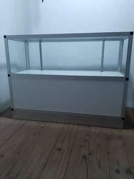 Glass And Aluminium Display counter