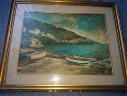 Картина маслом на холсте. Италия 63х50 см