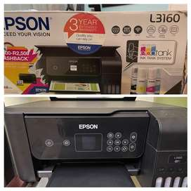 Epson Printer L3160 wifi with 80% ink and 2.5 years warranty  RELOCAT
