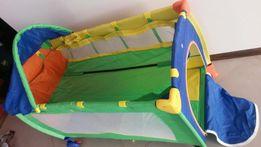 Łóżeczko dziecięce kolorowe jak nowe składane dwa poziomy