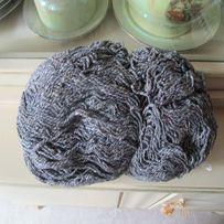 Полушерсть Нитки Пряжа Крученая Вязание Серый 250 гр