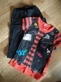 Zestaw 128 cm bluzeczka+czerne spodnie rurki