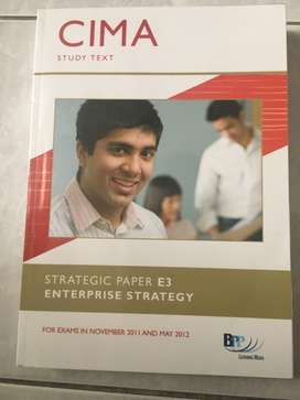 CIMA strategic paper e3 textbook and practice revision kit