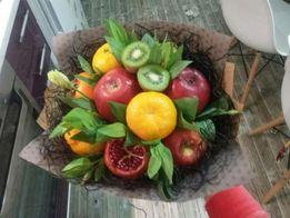 Сьедобные фруктовые букеты