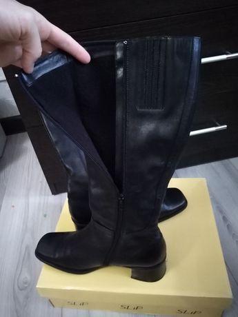 Сапоги женские высокие кожаные Софиевская Борщаговка - изображение 6