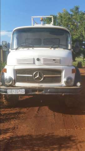 start an go, bull-nose mercedes water tanker supplying clean water