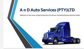 Mobile truck repair-mechanical and auto electrical