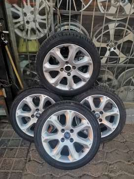 """16"""" original Ford fiester rims and tyres 205 /45 /16"""