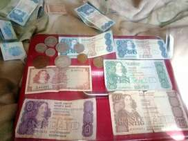 Old money... Paper notes and coins