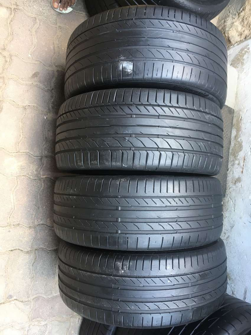 225/45/18 And 255/40/18 Set Continental Conti Sport Contact Run Flat T