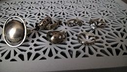 zestaw pierscionkow srebrnych kolczyki pierscionek pierscionki
