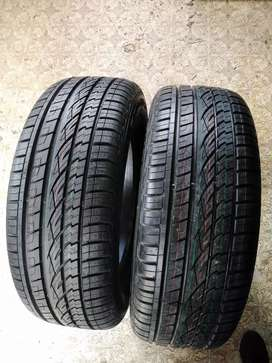 2 x 255/60/18 Continental cross contact tyres