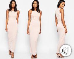 River Island sukienka maxi pudrowy róż 10 36 nowa