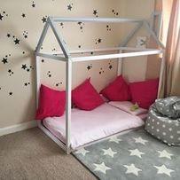 Łóżko dziecięce HAUSEBED 160x80 bez barierek + STELAŻ
