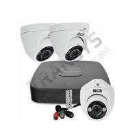 Monitoring HDCVI BCS 3 kamery FullHD + rejestrator zestaw monitoringu