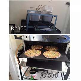 Gas Deep Fryer R2350 - Gas Pizza Oven R7500