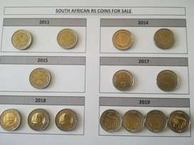 Rare South African R5 coins