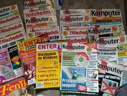 Czasopisma i książki o komputerze internecie pomoce naukowe