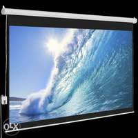 """Electric Wall Mounted Projection Screens For Sale 70"""" by 70"""" 0"""