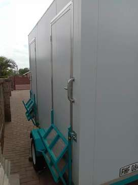 VIP flushing toilets and Mobile freezer for hire