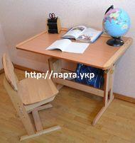Новая Парта и стул для школьника, недорого , бук