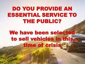 ESSENTIAL SERVICES CAN APPLY FOR VEHICLE FINANCE TODAY!