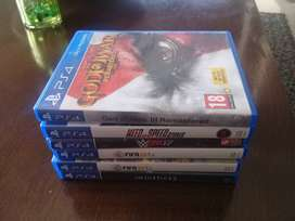 6 PS4 games in good condition