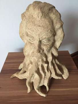 Clay sculpture of Poisedon