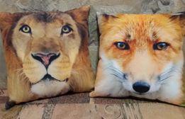 Подушка с рисунком животного 2 шт, цена за обе