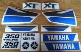Sticker decal kit for a year 2000 XT 350 motorcycle