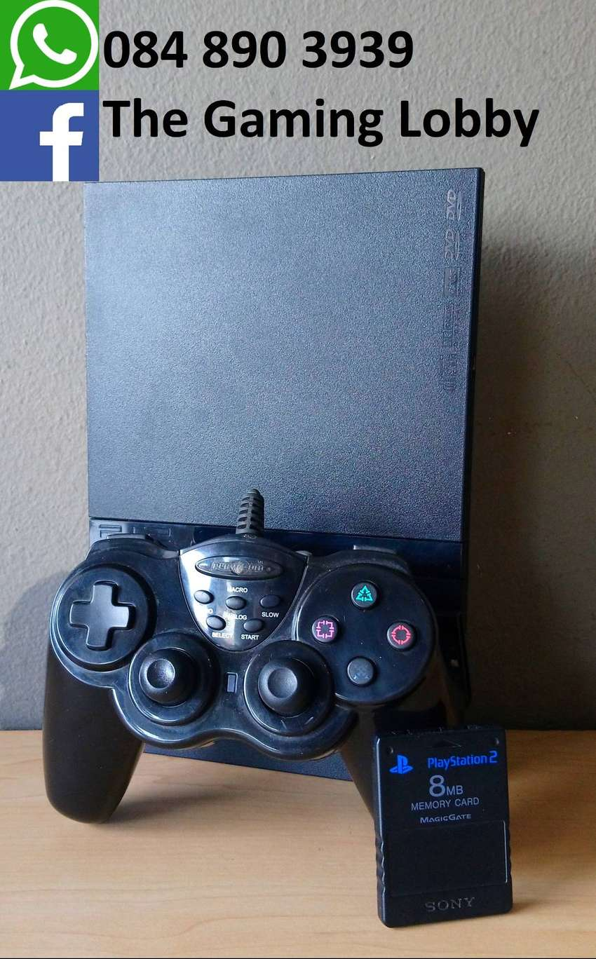 PlayStation 2 Slim, 8MB Memory Card and Controller