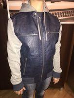Kurtka bluza Guess męska damska uniwersalna skórzana granatowa szara