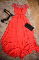 Платье кораллового цвета выпускное платье, сукня вечірня