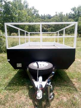 3ton double braked axle trailer for sale