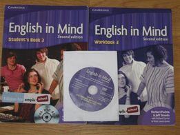 Książka i ćwiczenia do angielskiego - English in Mind se +CD gimnazjum