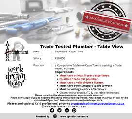 Trade Tested Plumber - Table View