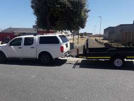 BAKKIE AND TRAILERS WITH DRIVER FOR HIRE