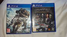 Ghost Recon Breakpoints and Injustice PS4 Games