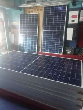 Solar panel and batteries