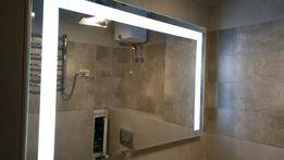 Влагостойкое зеркало с Led подсветкой 80х60 см в ванную комнату