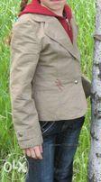 Котоновый пиджак-ветровка для девочки