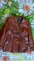 Куртка кожанка из кожзама женская пиджак 50 размер