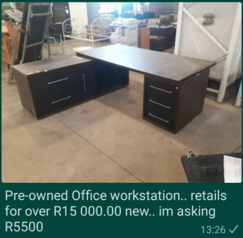 Pre owned office work station 0
