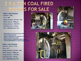 2 x COAL FIRED BOILERS FOR SALE BY OWNER