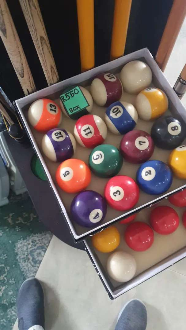 Pool table BALLS NUMBER